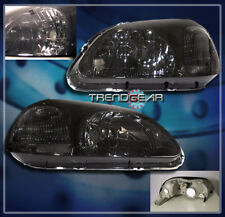 1996 1997 1998 HONDA CIVIC 2/3/4DR CRYSTAL HEADLIGHTS JDM SMOKE EK SI FRONT LAMP