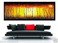 huge Urban original Art Painting canvas Bush fire dream  by jane  Australia
