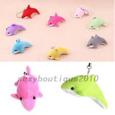 Creative 2pcs Dolphin Plush Soft Toy Keychain Pendant For Cell Phone Car Handbag