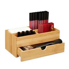 Kosmetik Organizer Schmuckkästchen Bambus Ordnungsbox Büro Schubladenbox natur