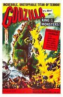 1956 Godzilla King Of The Monsters! Movie Poster Print > Raymond Burr 🍿🥤🎬