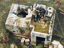 Verlinden 54mm (1/35) Tobruk Pit Bunker WWII [Plaster Diorama] 116 (MDA 35105)