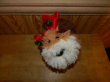 Animated Christmas Puppy Dog Santa Hat Chases Tail Plays Jingle Bells See Demo