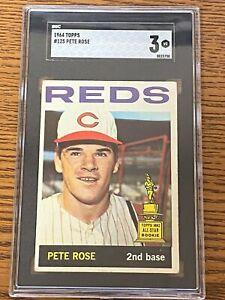 1964 Topps #125 PETE ROSE Trophy Rookie Cincinnati Reds VG SGC 3 ~SC1-50