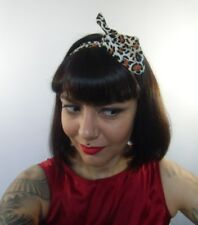 Bandeau foulard cheveux rigide cordon maléable tissu léopard coiffure pinup rock