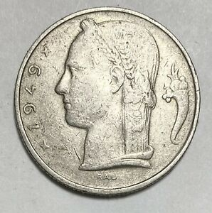 1949 Belgium 5 Franc Copper-Nickel Has French Text Circulated Coin (888)
