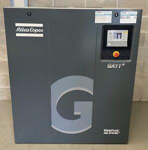 Atlas Copco GA11+ Floor Mounted Rotary Screw Compressor 11Kw, 15Hp, 75Cfm!