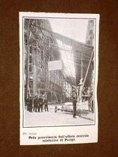 Parigi nel 1908 Sede provvisoria dell'ufficio centrale telefoni dopo l'incendio