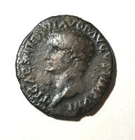 Ancient Roman Empire, Divus Tiberius AE As, struck by Titus, 80-81 AD.