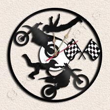 Motocross Wall Clock Vinyl Record Clock
