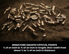 Lot 3D Sale: 200 miniature sized sparkling quartz crystals by the point