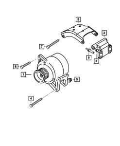 Genuine MOPAR Alternator RL104762AA