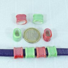 8 Abalorios Para Cuero Regaliz 15x12mm T50C Ceramica Beads Leather Cuoio Cuir
