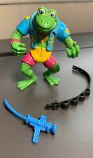 Tmnt Genghis Frog Teenage Mutant Ninja Turtles 1989 w/ Accessories