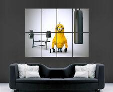 Minion POSTER Sollevamento Pesi Muscoli FUMETTI FILM TV arte foto stampa di grandi dimensioni