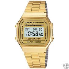 Orologio Casio A168WGA-9ADF Gold in acciaio fondo oro vintage unisex digitale