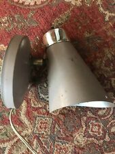 Vintage Mid Century Modern Antique Pierced Cone Metal Wall Sconce Light Fixtures
