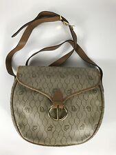 Rare Vtg Christian Dior Beige Monogram Shoulder Bag