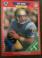 1989 TROY AIKMAN - Pro Set ROOKIE Football Card - #490  - DALLAS COWBOYS HOF QB