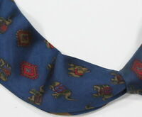 Salvatore Ferragamo Dark Turqoise Blue Elephants Silk Italy Necktie Tie