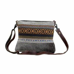 Myra Bag Nuanced Cotton Rug & Hair-On Small Crossbody Bag S-2863