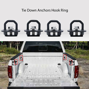 Chevy Silverado GMC Canyon Truck Bed Side Walls Hook Ring Tie Down Anchors 4pcs