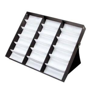 18 Eyeglass Sunglasses Organizer Box Holder Glasses Storage Display Stand Case