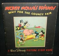Mickey Mouse's Friends Wait For The County Fair~1937, A Walt Disney Picture Stor
