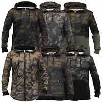 Mens Camouflage Sweatshirts Soul Star Hooded Top Military Fleece Lined Winter