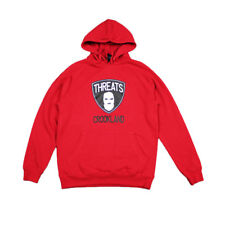 Crooks and Castles Mens Threats Graphic Print Fleece Pullover Hoodie True Red