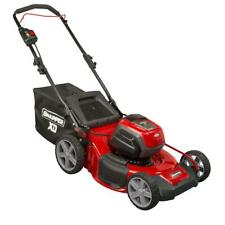 """21"""" Push Lawn Mower Electric Cordless 82V Red/Black Single Lever Garden Lawn"""