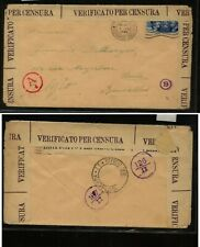 Italy  super nice censor cover to Belgium , nice cancels   HC0331