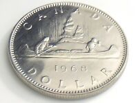 1968 Canada 1 One Dollar Canadian Elizabeth II Almost Uncirculated Coin I858