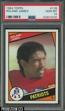 1984 Topps Football #139 Roland James Boston Patriots PSA 10 GEM MINT