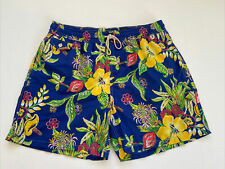 Polo Ralph Lauren Swim Beach Trunk Shorts XXL Blue Hawaiian Caribbean Floral