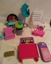Mixed Lot Plastic Barbie Doll House Furniture & Other Accessories Preowned