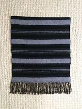 Brand New~DKNY~Scarf~Made in Italy~Wool Blend~Stripes~Tassels~Black~Gray~Stunnin