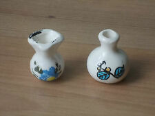 Vintage 1960s Child's Doll's House China Vases - VGC