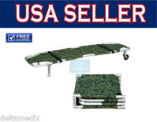 Stretcher Foldaway Aluminum Wheel Camouflage / Emergency / FDA / CE 191-MayDay
