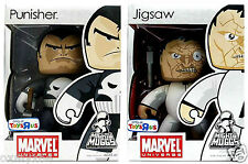 "Marvel Mighty Muggs TRU Exclusive Punisher & Jigsaw 6"" Figure Set with Guns!"