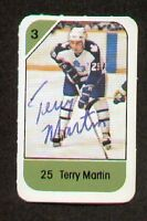 Terry Martin signed autograph auto 1982-83 Post Cereal NHL Hockey Card