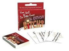 How Well Do You Know The Birthday Bitch? Party Card Game - NEW