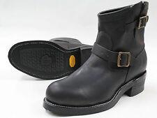 Men's Chippewa 27872 Black Odessa Leather Steel Toe Engineer Boot