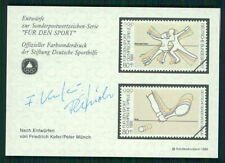 GERMANY SPORTS AID OLYMPIC COMMITTEE S/S UNISSUED DESIGNS TENNIS ICE DANCE m2352