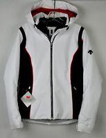 Descente Womens Bree Insulated Ski Jacket DWW-MGK25 Superwhite Black Red Size 12