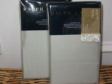 2 Ralph Lauren 624 Antique Jade Solid standard Shams Set Langdon $230