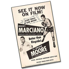 """Two Rocky Marciano vs Archie Moore Better Than Ringside Boxing 11x17"""" Posters"""