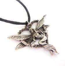 Greenwood Elf Heart Love Fairy Amulet Charm Pendant Necklace Pewter Gw06
