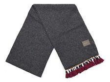 *NEW* J.Crew Women's Wool Blend Tassel Scarf in Heather Carbon Gray & Burgundy
