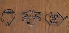 3 Star Wars Pancake Molds NEW Millennium Falcon, X-Wing Fighter & Vaders Fighter